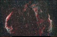 Veil Nebula with OIII and H-Alpha data