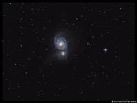 M51 galaxy pair in Canes Venatici