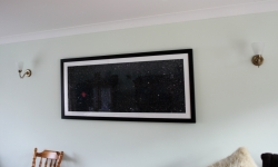 Framed image of the Cocoon nebula
