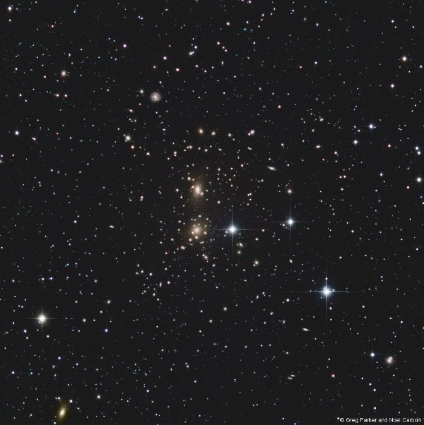 Coma cluster - cropped central region