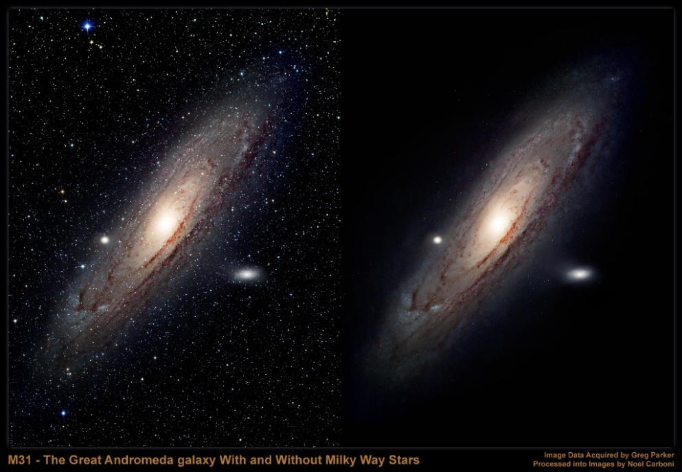 the milky way and andromeda galaxy distance from the viewed - photo #25