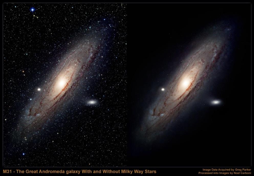 milky way compared to andromeda galaxy - photo #3
