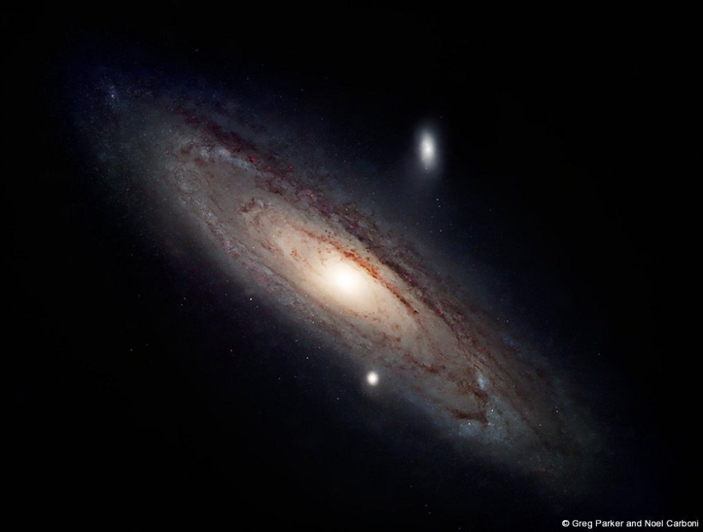 M31 Andromeda Galazy without Milky Way stars