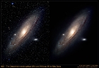 M31 with and without milky way stars