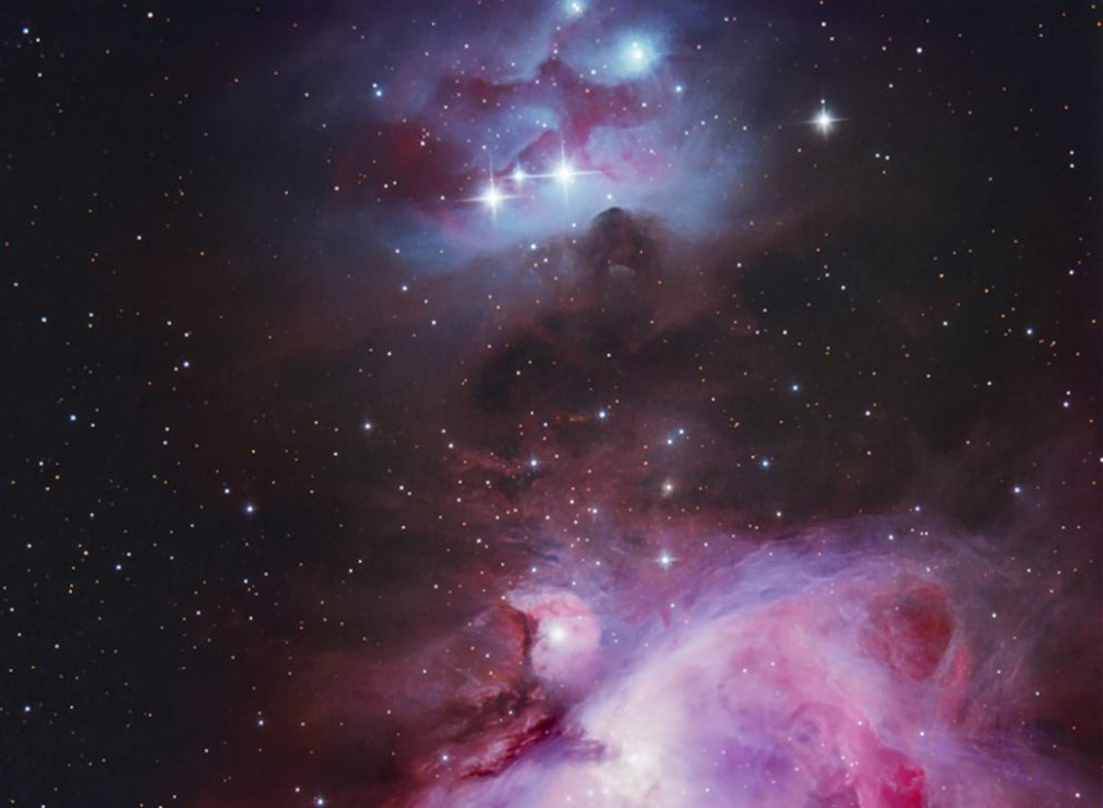 Between M43 and NGC1977