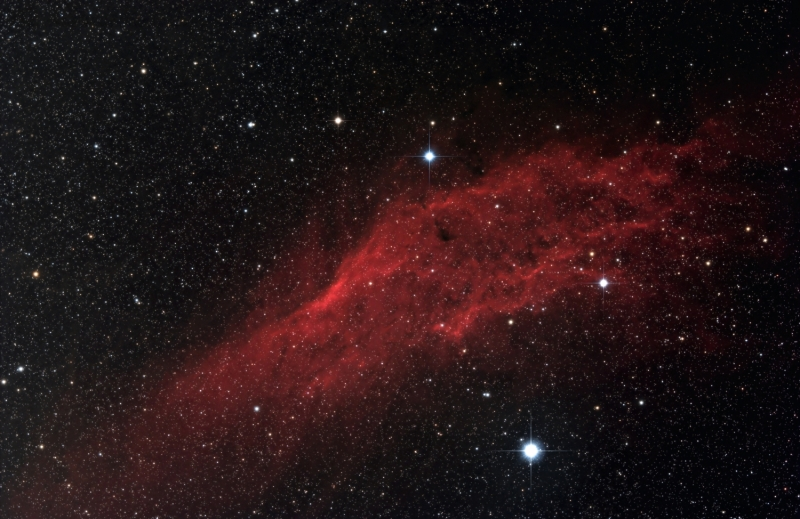California nebula mini-WASP array 2014