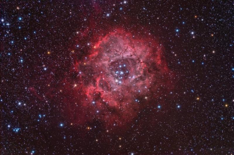 Rosette nebula all data