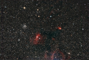 Bubble nebula region mini-WASP array