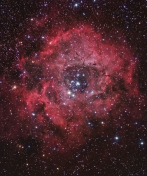 Rosette nebula composite image