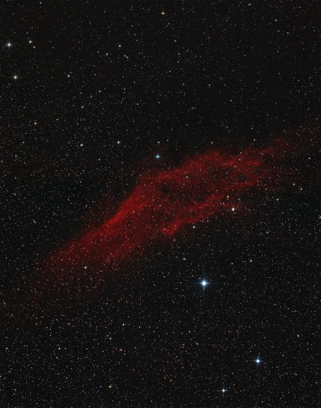 California nebula in Perseus