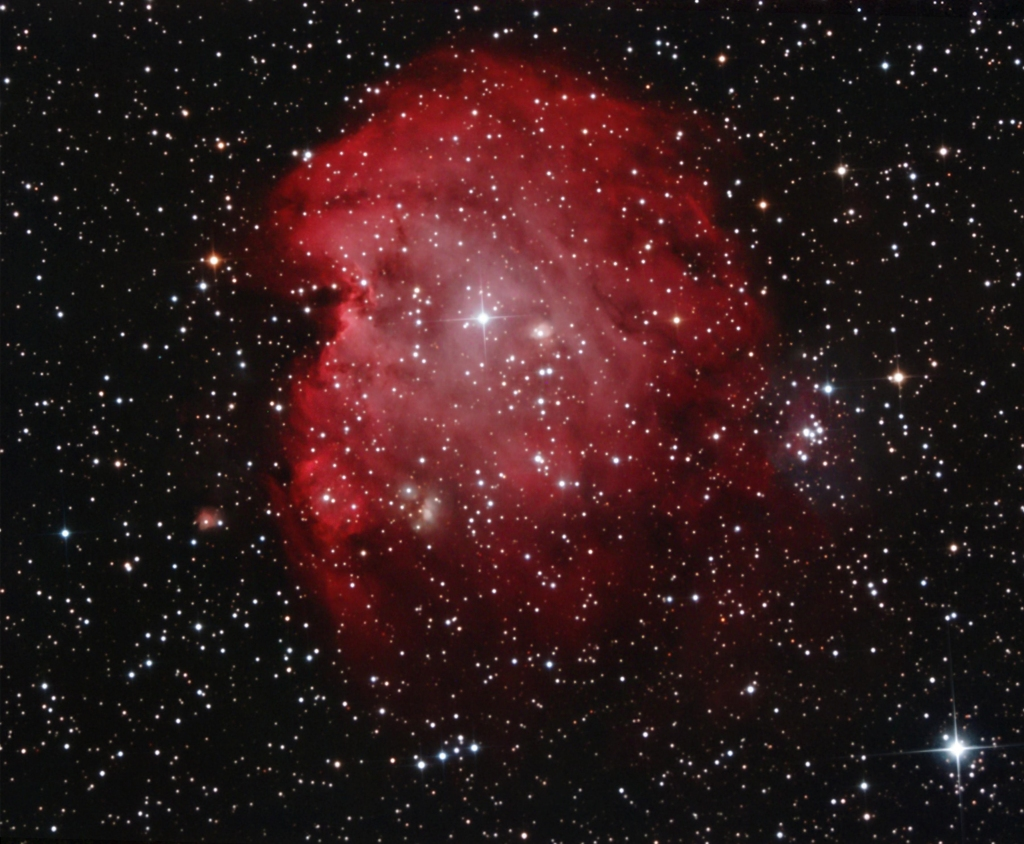 Monkey Head nebula composite image