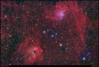 The Flaming Star Nebula And Companion