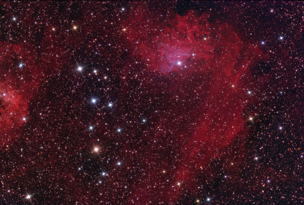 Flaming Star nebula in Auriga