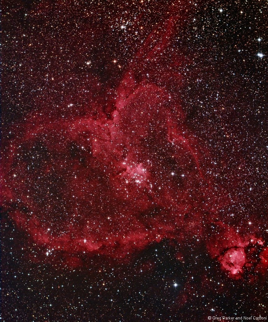 IC1805 the Heart Nebula in Cassiopeia | New Forest ...