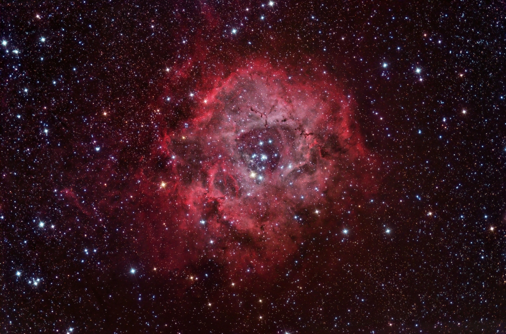 Rosette nebula composite