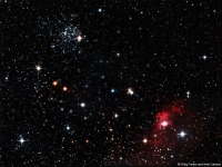 M52 and Bubble Nebula