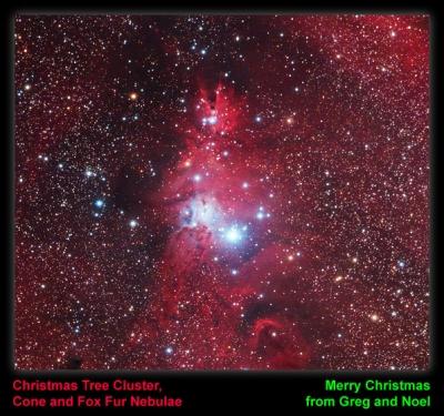 Christmas 2007.  The Christmas Tree Cluster
