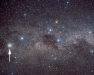 AF1-02.  The Southern Milky Way, from the Pointers to the Carina nebula, centred on alpha Crux in the Southern Cross  © Akira Fujii/DMI Image supplied by David Malin Images