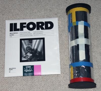 8 x 10 inch photopaper pinhole camera