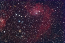 The Flaming Star nebula in Auriga