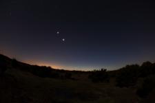 Jupiter Venus and Mercury