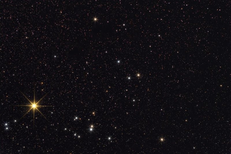 Hyades with the 200mm lens at f#4.5