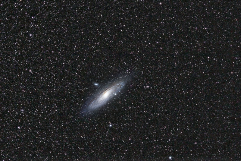 M31 200mm Canon lens composite