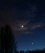 Moon Venus and Mars